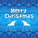 Christmas blue vector greeting card Stock Photography