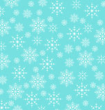 Christmas blue wallpaper, snowflakes texture Royalty Free Stock Images
