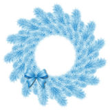 Christmas blue wreath Stock Photos