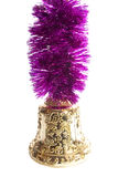 Christmas bluebell. New-year decorations. Christmas bluebell and tinsel on a white background Royalty Free Stock Photos