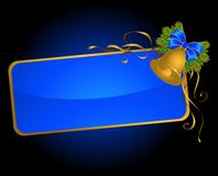 Christmas bluebell with ribbons Royalty Free Stock Images