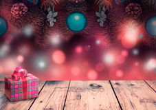 Christmas blur background with empty space. Stock Photos