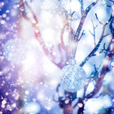 Christmas Blurred Background with Bauble Royalty Free Stock Images
