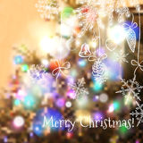Christmas blurred background for design Stock Photography