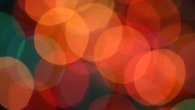 Christmas Blurred colour lihgts stock video footage