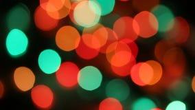 Christmas Blurred colour lihgts stock video