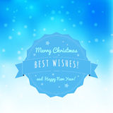 Christmas blurred greeting card with bokeh on background Royalty Free Stock Photography