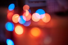 Abstract bokeh circles. lens flare and defocused blur glow stock photography