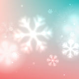 Christmas blurred snowflake background Stock Photo