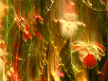 Christmas Blurs. A abstract background of christmas lights n' objects blurs Royalty Free Stock Photography