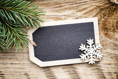 Christmas board card. Royalty Free Stock Image