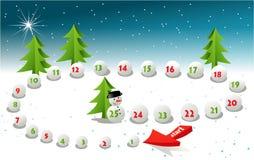 Christmas board game Stock Image