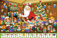 The christmas - board game - Santa Claus stock illustration