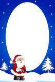 Christmas boder /Snowman frame Stock Image