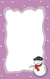 Christmas boder /Snowman frame Royalty Free Stock Photo