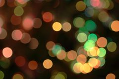 Christmas bokeh. Colorful Christmas lights out of focus royalty free stock images