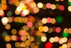Christmas bokeh. Abstract winter pattern Stock Photography