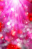 Christmas bokeh. Abstract christmas bokeh with stars Stock Photography