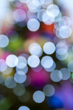 Christmas bokeh. Defocused Chismas tree and baubles Stock Photography