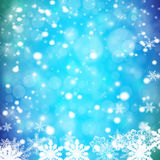 Christmas bokeh background. Abstract christmas illustration Happy New Year - colorful xmas background Stock Images