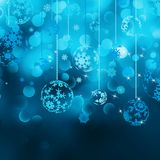 Christmas bokeh background with baubles. EPS 8 Royalty Free Stock Image