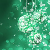 Christmas bokeh background with baubles. EPS 8 Stock Photos