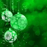 Christmas bokeh background with baubles. EPS 10 Royalty Free Stock Photos