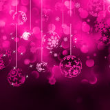 Christmas bokeh background with baubles. EPS 8 Royalty Free Stock Photos