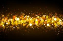Christmas Bokeh background. Defocused bokeh lights. Golden Christmas Bokeh background Royalty Free Illustration