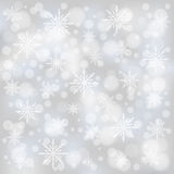Christmas bokeh background. With snowflakes stock illustration