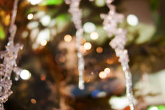 Christmas bokeh background. Christmas tree with toys Royalty Free Stock Photos