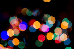 Christmas Bokeh Background. For Your Christmas Card Or Poster Royalty Free Stock Photo
