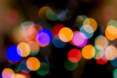 Christmas Bokeh Background. For Your Christmas Card Or Poster Royalty Free Stock Photography