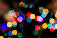 Christmas Bokeh Background. For Your Christmas Card Or Poster Stock Photo