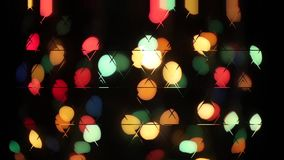 Christmas bokeh light abstract holiday background. Defocused ligths of Christmas