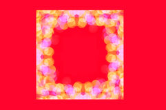 Christmas bokeh light frame Royalty Free Stock Photo