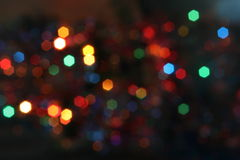 Christmas bokeh lighteffects Royalty Free Stock Images