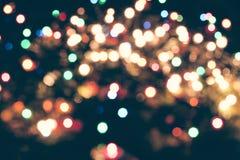 Christmas bokeh lights. Christmas background with bluried lights stock photography