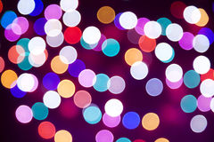 Christmas bokeh lights, vintage background Stock Photos