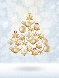 Christmas bokeh poster with Tree. EPS 10 Royalty Free Stock Photography
