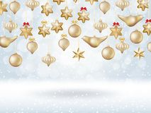 Christmas bokeh poster with Tree. EPS 10 Stock Images