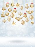 Christmas bokeh poster with Tree. EPS 10 Stock Photography
