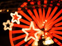 Christmas bokeh stars in Karlsruhe stock images
