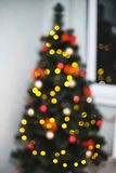 Christmas bokeh. Christmas tree Royalty Free Stock Photography