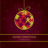 Christmas bol on paper background. Holiday card Stock Photography
