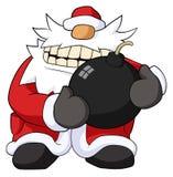 Christmas Bomb Cartoon Royalty Free Stock Photos
