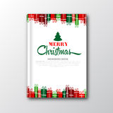 Christmas book cover or flyer template  Stock Photography