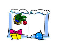 Christmas book form Royalty Free Stock Photos