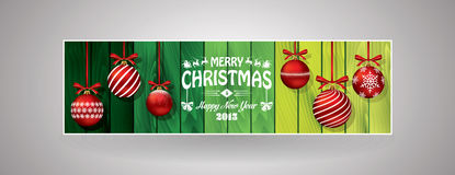 Christmas bookmark. Christmas green bookmark and header Stock Photography