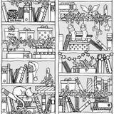 Christmas bookshelf (seamless pattern) Stock Photography